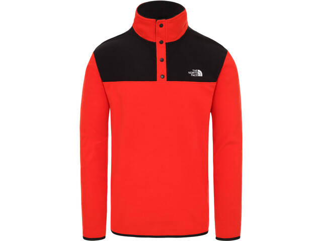 The North Face Tka Glacier Snap Neck Pulloveri Miehet, fiery red/tnf black